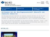 Berufsgenossenschaft Rohstoffe und chemische Industrie (BG RCI), Webseite der Branche Bergbau