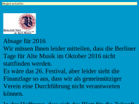 Berliner Tage für Alte Musik