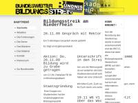 Bildungsstreik am Niederrhein
