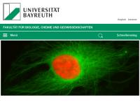 Fachgruppe Biologie der Universität Bayreuth