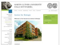 Fachbereich Biologie der Martin-Luther-Universität