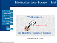 Briefmarken Josef Boczek