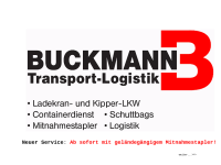 Buckmann Transport Logistik