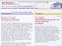 Das Dossier | Portal für kritischen Journalismus