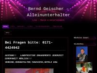 Alleinunterhalter Bernd Geischer