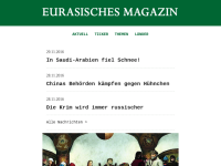 Eurasisches Magazin: Lied von der Steppe