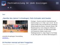 SV 1845 Esslingen e.V. - Fechten