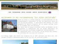 """Ferienwohnung """"Zur Alten Leitstraße"""" in Grünhainichen im Erzgebirge"""