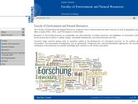 Fakultät für Forst- und Umweltwissenschaften der Albert-Ludwigs-Universität