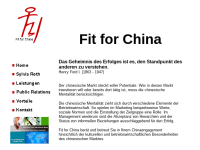 Fit for China - Sylvia Roth