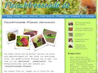 Fleischfressende.de - fleischfressende Pflanzen (Karnivoren)