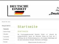 """Forschungsgemeinschaft für Philatelie und Postgeschichte """"Deutsche Einheit"""""""