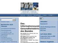 GBE - Die Gesundheitsberichterstattung des Bundes