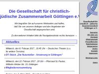 Göttingen - Gesellschaft für christlich-jüdische Zusammenarbeit