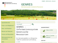 Informationssystem Genetische Ressourcen (GENRES)