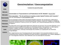 Geosimulation und Geocomputation