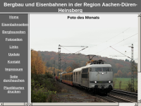 Bergbau und Eisenbahnen in der Region Aachen-Düren-Heinsberg