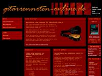 Gitarre-Noten für Lieder und Spielstücke