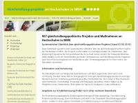 Geschlechtergerechtigkeit an nordrhein-westfälischen Hochschule