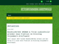 Bündnis 90/Die Grünen Kreisverband Greifswald-Vorpommern