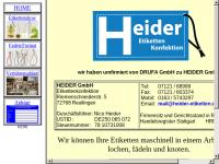 Heider Etiketten, Inh. Erich Heider
