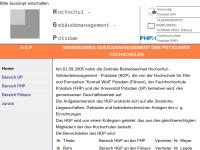 Hochschulgebäudemanagement (HGP) Universität Potsdam