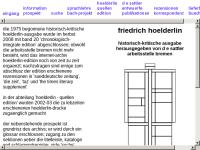 Friedrich Hölderlin - Dokumente und Edition