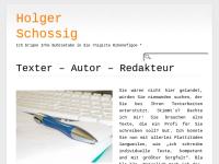 Texter Holger Schossig