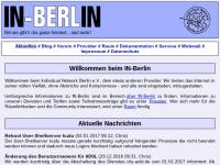 IN-Berlin im Web - Individual Network Berlin e.V.,