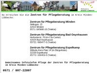 Info-Zentren Pflege im Kreisgebiet Minden-Lübbecke