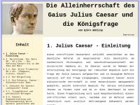 Gaius Iulius Caesar und die Königsfrage