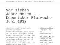 """Gedenkstätte """"Köpenicker Blutwoche"""""""