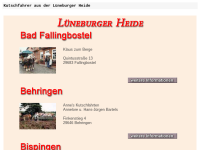 Kutschfahrten Lüneburger Heide
