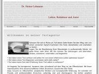 Dr. Heiner Lohmann, Lektor