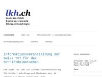 LKH Schweiz Lautsprachlich kommunizierende Hörgeschädigte