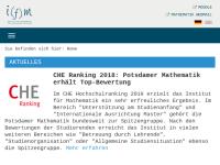 Institut für Mathematik an der Universität Potsdam