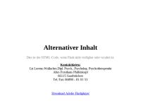 Verhaltenstherapie - Liz Lorenz-Wallacher
