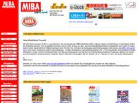 MIBA Online-Liste von Modellbahn-Clubs und -Organisationen