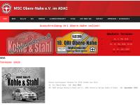 MSC Motorsportclub Obere Nahe e.V. Wolfersweiler