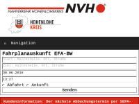 Nahverkehr Hohenlohekreis