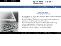 Open Data Huber Office-Programmierung