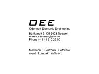 Odermatt Electronic Engineering (OEE), Inh. Marco Odermatt