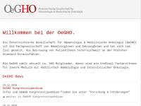 Österreichische Gesellschaft für Hämatologie uund Onkologie (OEGHO)