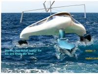 Oeko-Trimaran - Mit erneuerbaren Energien angetriebenes Motorschiff
