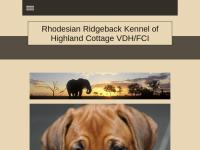 Rhodesian Ridgeback Zucht of Highland Cottage