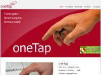 oneTap - Kommunikations- und Steuerungssystem für Menschen mit Behinderung