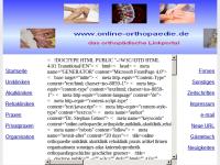 Online Orthopädie