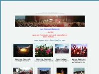 Open-Air Festivals in Europa