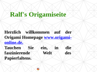 Ralf's Origamipage