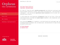Orpheus Reisen